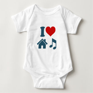 Love House Music Baby Bodysuit
