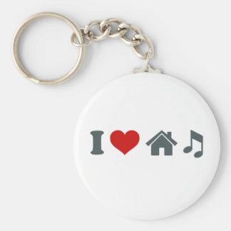 Love House Music Keychain
