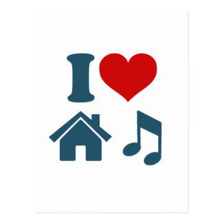Love House Music Postcard