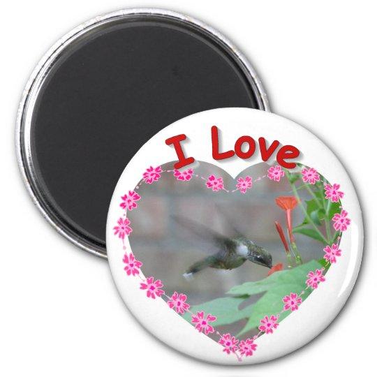 Love Hummingbirds 6 Cm Round Magnet