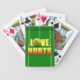 Love Hurts, Funny Tennis Bicycle Playing Cards