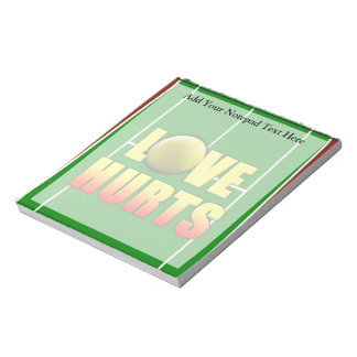 Love Hurts, Funny Tennis Notepads