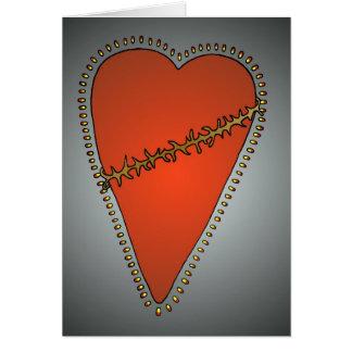 """Love Hurts"" Greeting Card"
