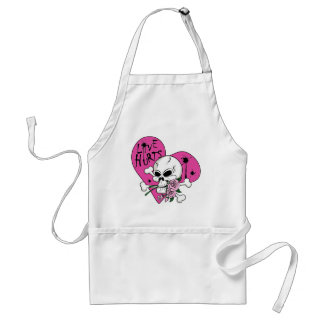 Love Hurts Skull Apron