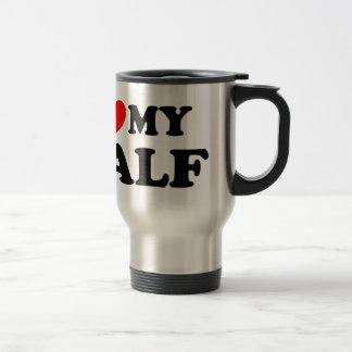 Love I heart My Half Stainless Steel Travel Mug