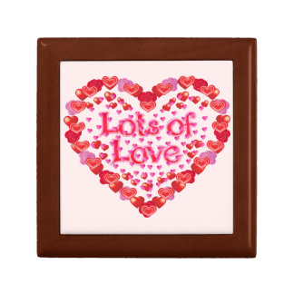 Love,I love you,Lots of Love,Family Small Square Gift Box