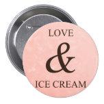 Love & ice cream badge