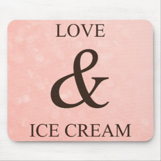 Love & ice cream mouse pad