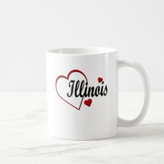 Love Illinois Hearts Mugs