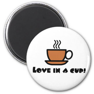 Love in a Cup Fridge Magnets