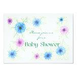 'Love-in-a-mist' Baby Shower Invitation 13 Cm X 18 Cm Invitation Card
