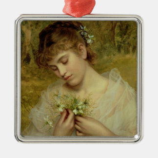 Love in a Mist (oil on canvas) Christmas Ornament