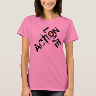 Love in Action - Black Print T-Shirt
