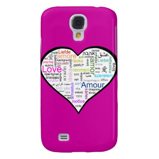 Love in all languages Heart Galaxy S4 Case