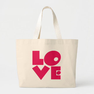 LOVE in Big Pink Letters Canvas Bag