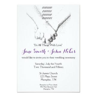 'Love in Binary' Wedding Invitation