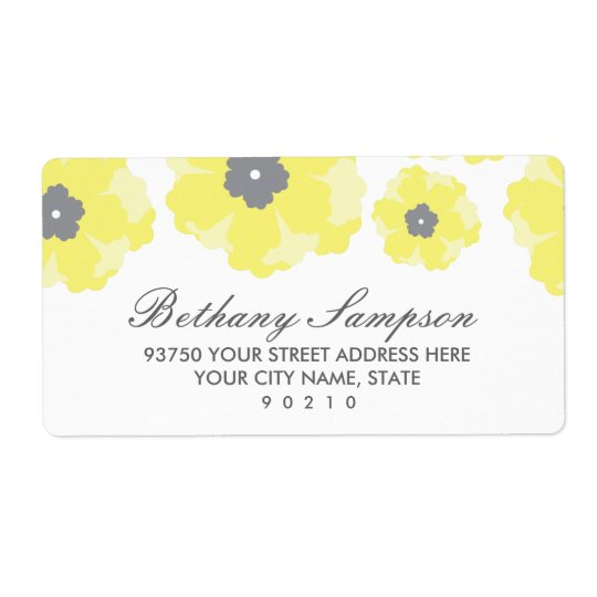 Love in Bloom Address Labels