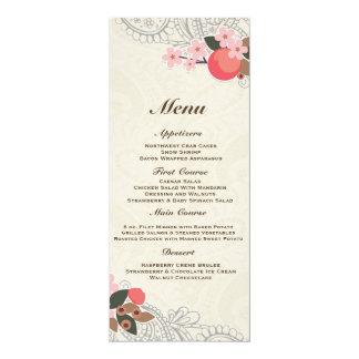 Love in Bloom – Lace & Burlap 10 Cm X 24 Cm Invitation Card