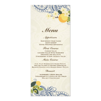 "Love in Bloom – Lace & Burlap 4"" X 9.25"" Invitation Card"
