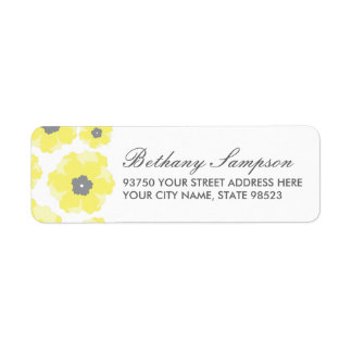 Love in Bloom Return Address Labels