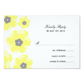 Love in Bloom RSVP Cards 9 Cm X 13 Cm Invitation Card