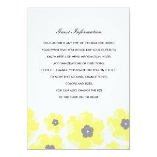 Love in Bloom Wedding Insert 11 Cm X 16 Cm Invitation Card