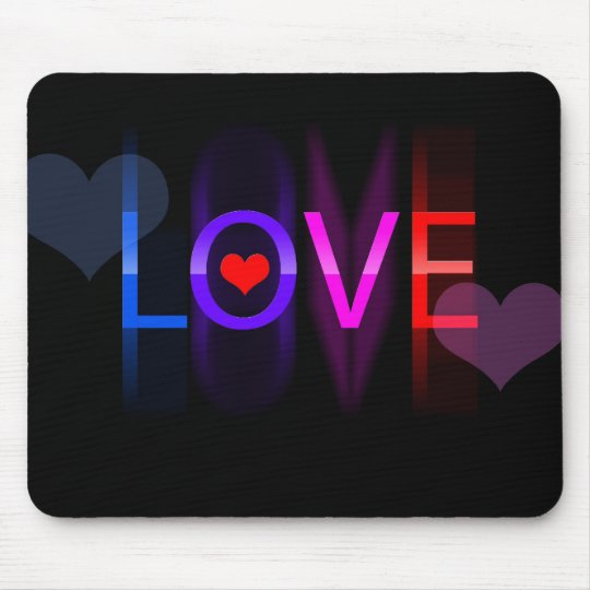 Love in colours mouse mat