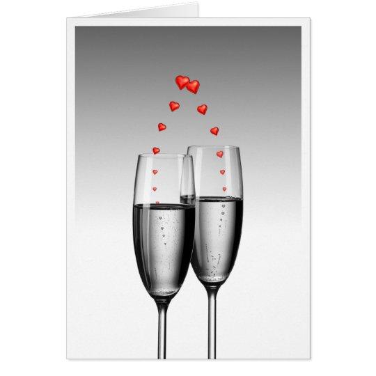 Love in glasses card