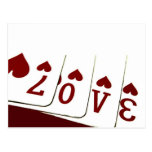 Love in Heart Playing Cards Post Cards