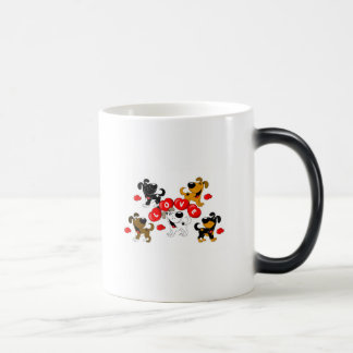 Love in Hearts (Surrounded by Pups) Morphing Mug
