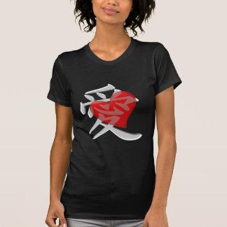 Love in kanji/big red heart shirts