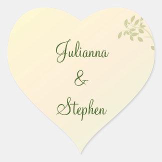 Love in Laurels Customized Heart Sticker