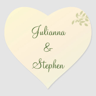 Love in Laurels Customized Heart Stickers