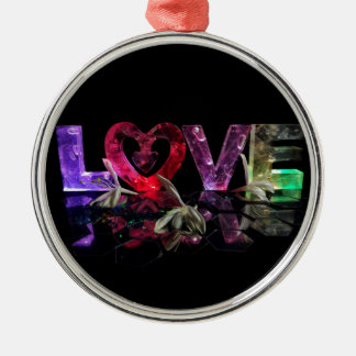 Love in Lights with honeysuckle Silver-Colored Round Decoration