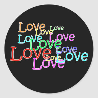 Love in neon Sticker
