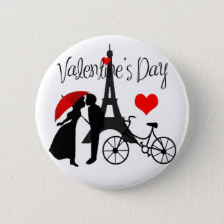 Love in Paris 6 Cm Round Badge