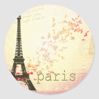 Love in Paris Classic Round Sticker
