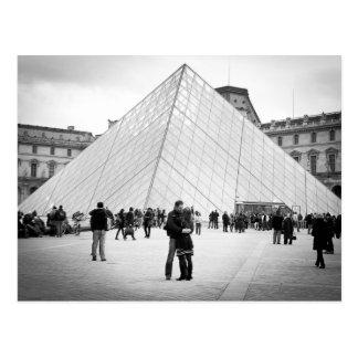 Love in Paris Louvre Post Cards