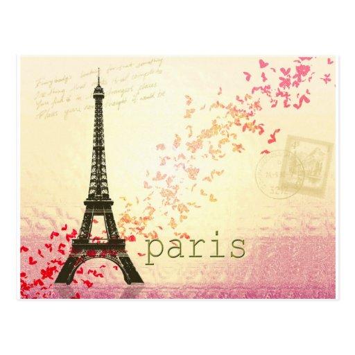 Love in Paris Postcards