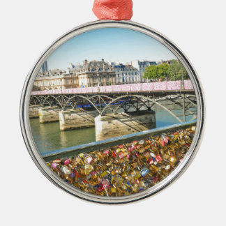 Love in Paris Silver-Colored Round Decoration