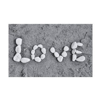 Love in Pebbles Canvas