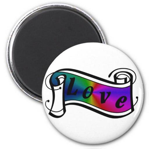 Love in rainbow Fantasy kind - kind Deco Fridge Magnet