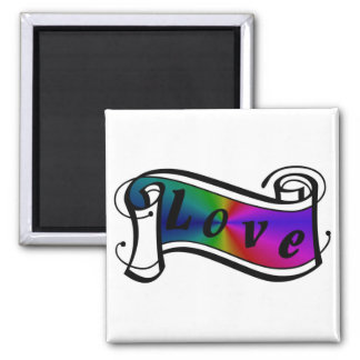 Love in rainbow Fantasy kind - kind Deco Square Magnet