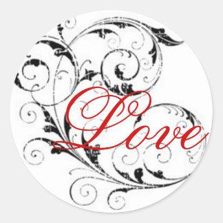 Love in Scroll Sticker