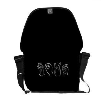 LOVE IN SIGN LANGUAGE COMMUTER BAG