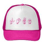 Love in Sign Language Pink Cap