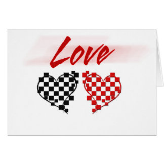 Love in the fast lane -for Nascar fans Greeting Card
