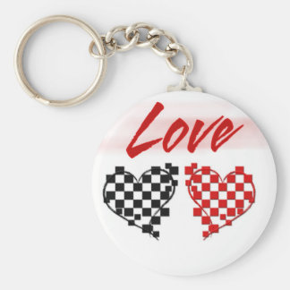 Love in the fast lane -for Nascar fans Key Ring