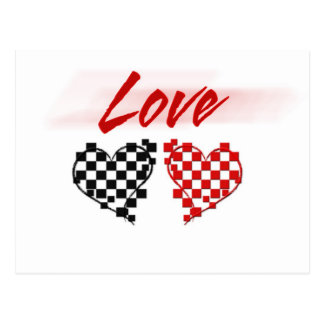Love in the fast lane -for Nascar fans Postcard