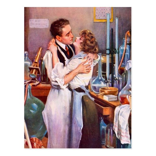Love in the Lab Postcard